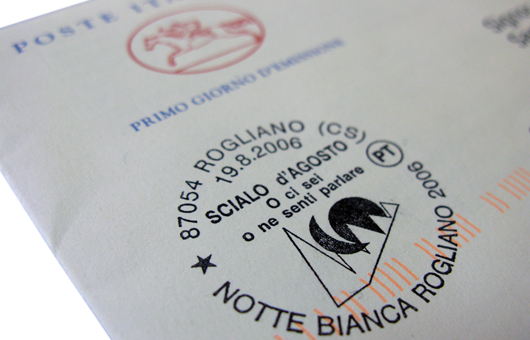 Timbro postale filatelia Scialo d'agosto