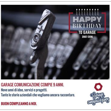 Garage Comunicazione compie 9 anni.