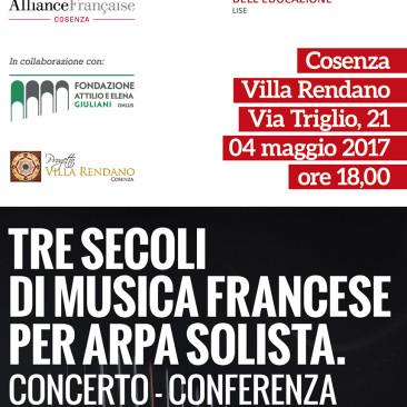 Tre secoli di musica francese per arpa solista. Concerto/conferenza del M° Rosalba Cirigliano.
