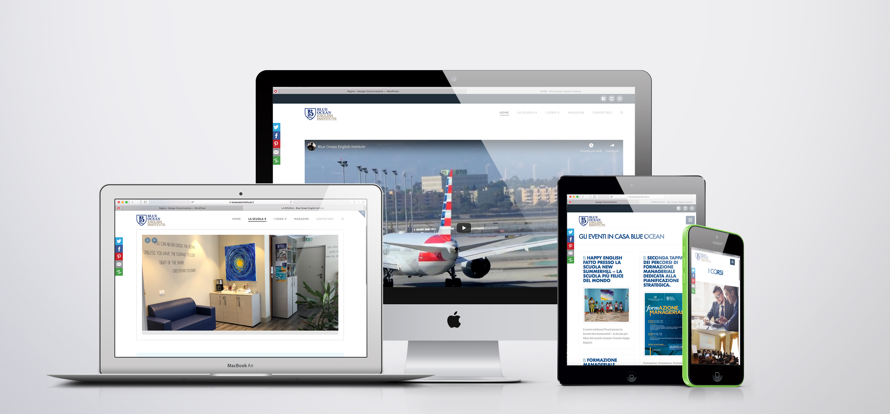 sito web responsive Blue Ocean English Institute Catanzaro