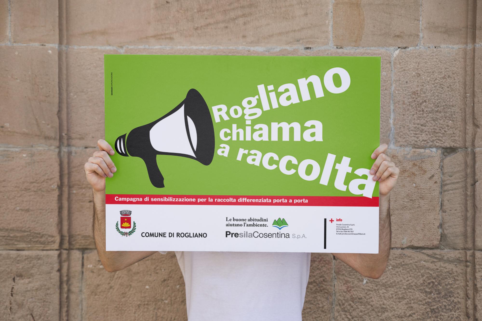 Campagna advertising Rogliano Chiama a raccolta