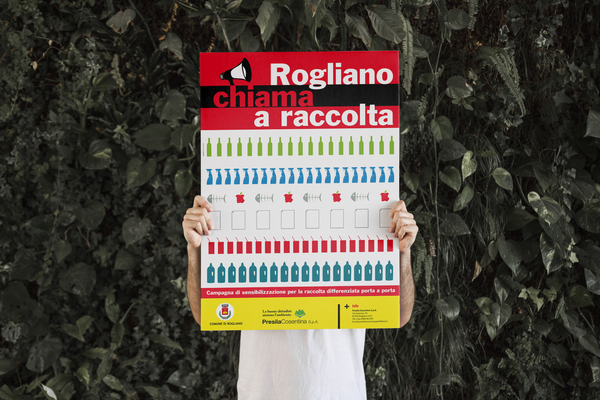Campagna pubblicitaria Rogliano Chiama a raccolta