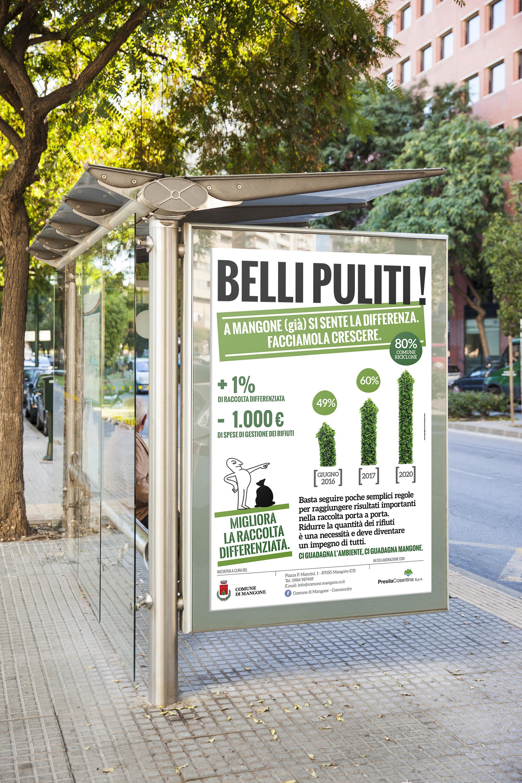 Affissioni urbane campagna pubblicitaria Comune