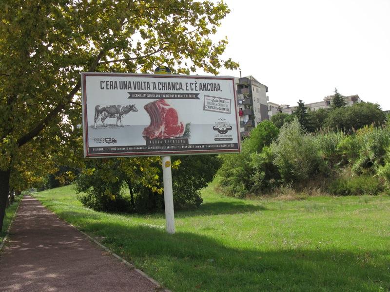 CAMPAGNA ADVERTISING A CHIANCA PALINE AUTOBUS