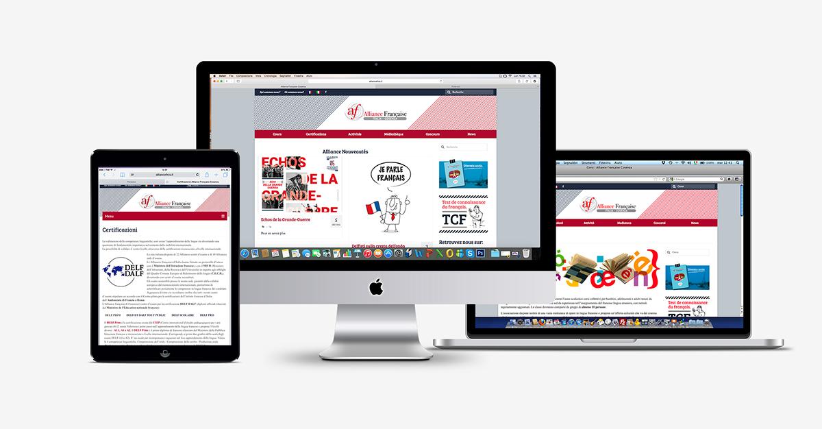 Sito web responsive alliance Française di Cosenza