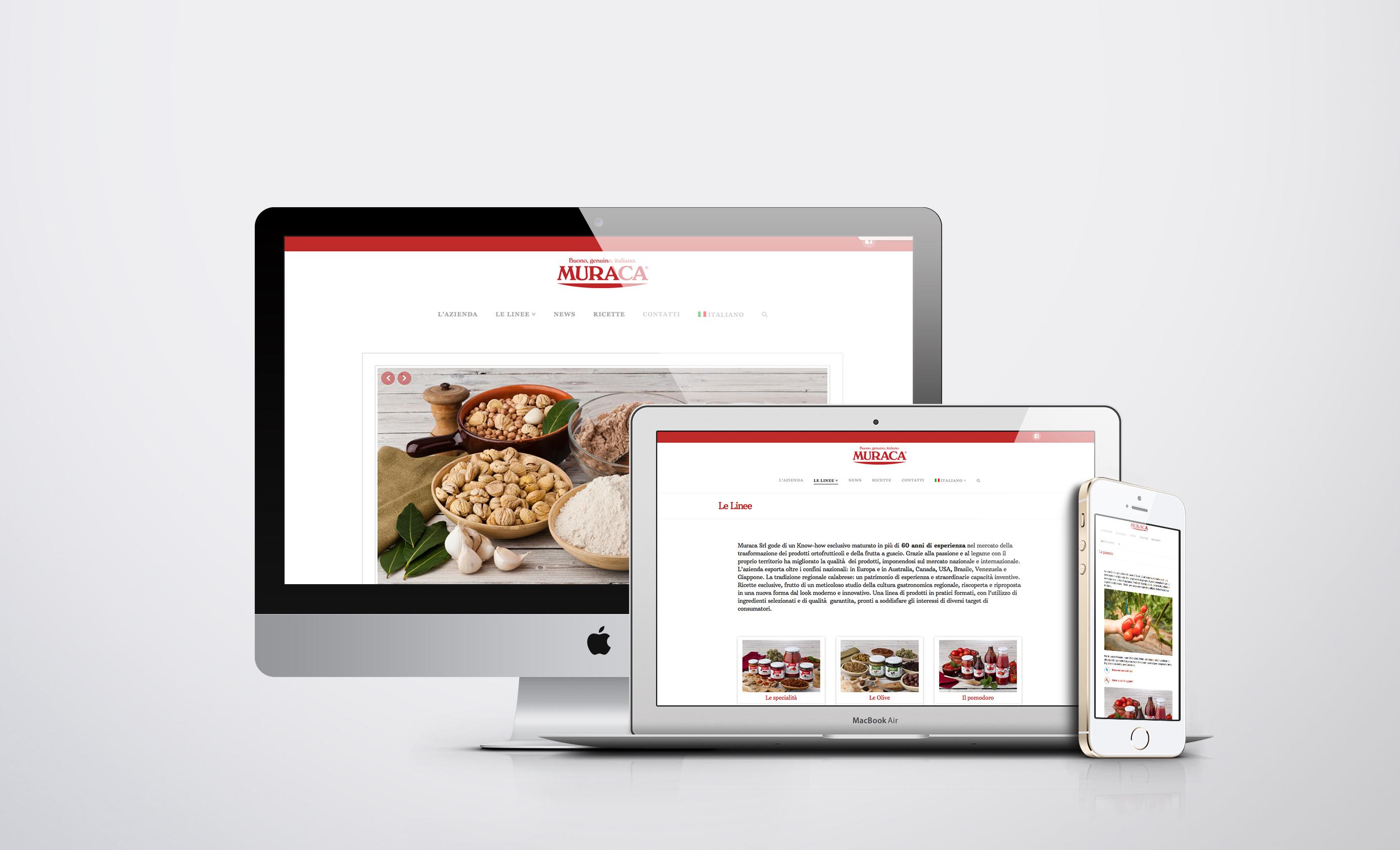 Branding per Muraca Industria Agroalimentare Sito web responsive Muraca
