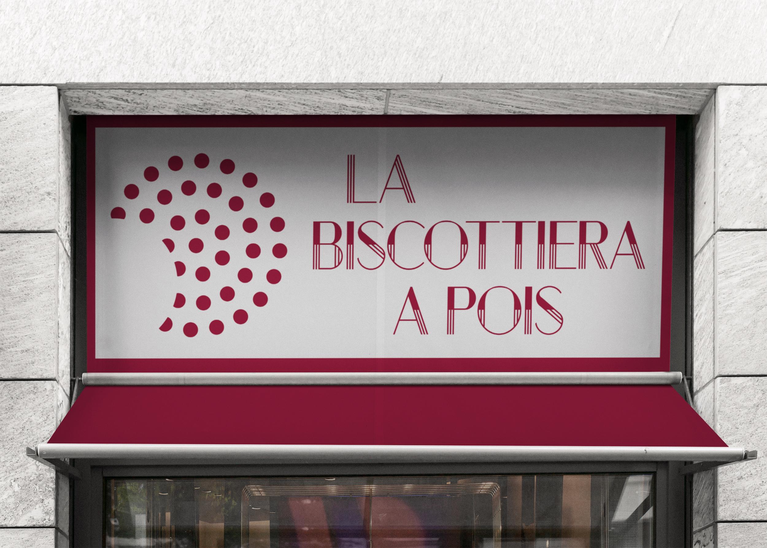 insegna logo identità la biscottiera Milano
