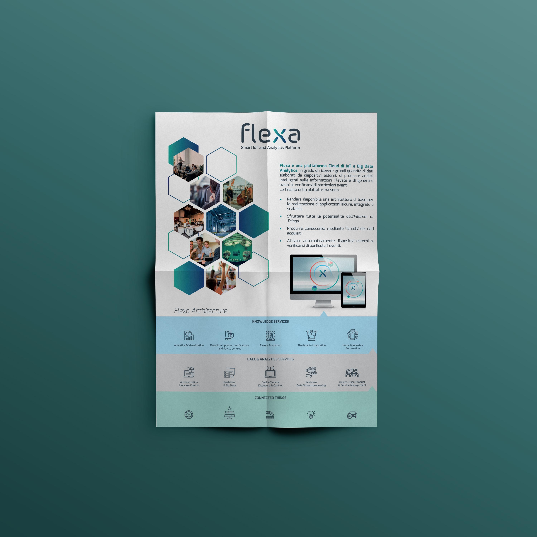 poster pieghevole Flexa 2 ante