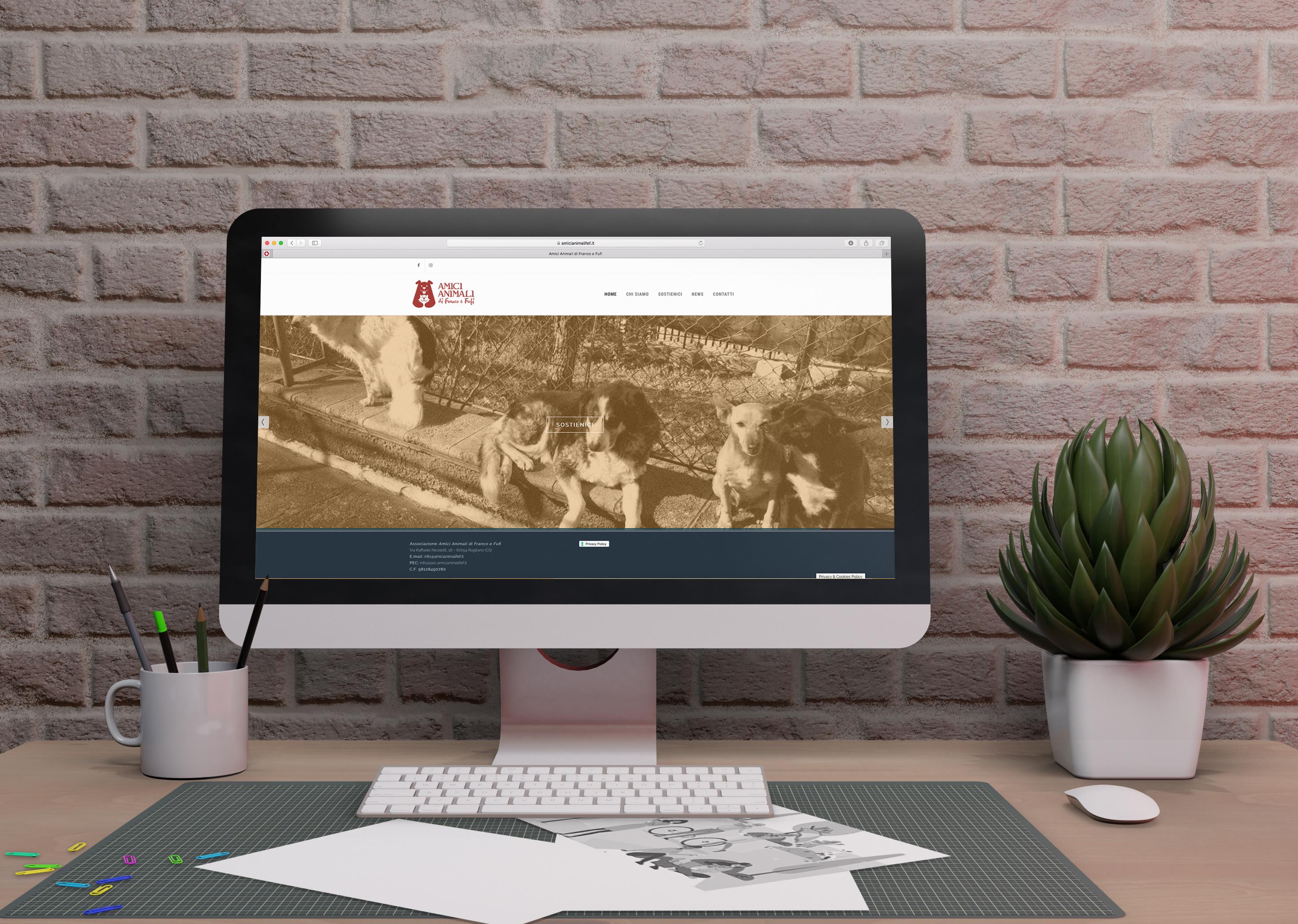 sito web responsive associazione Amici Animali di Franco e Fufi