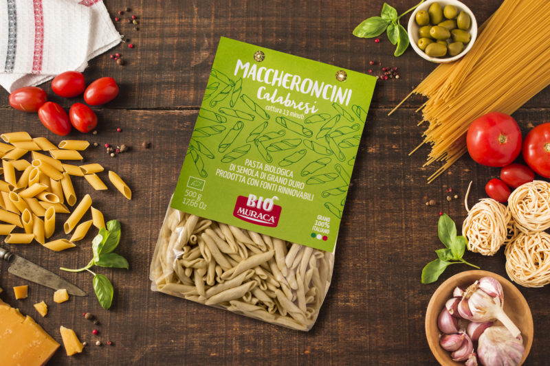 Packaging alimentare Muraca pasta biologica