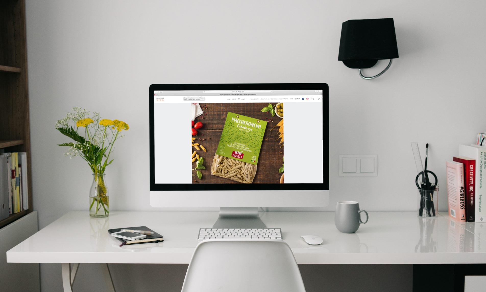 Il packaging della pasta Biologica Muraca progettato da Garage Comunicazione premiato da Favourite Design